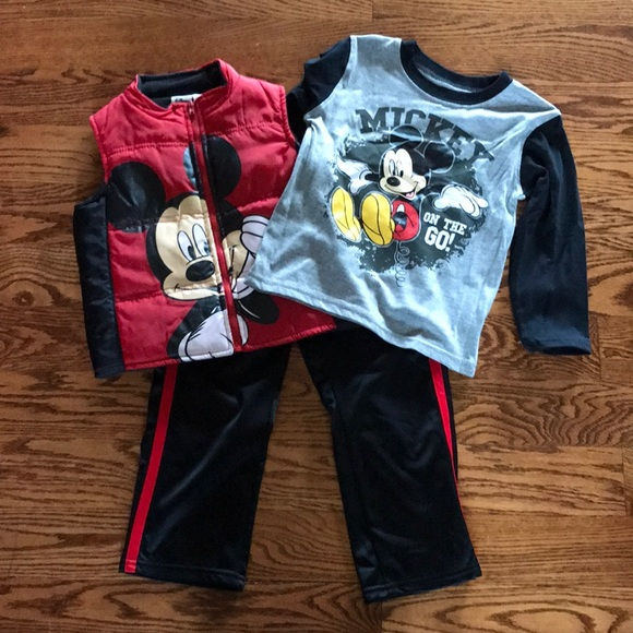 15ceaac3e Disney Matching Sets | Mickey Mouse 3pc Athletic Set With Vest ...
